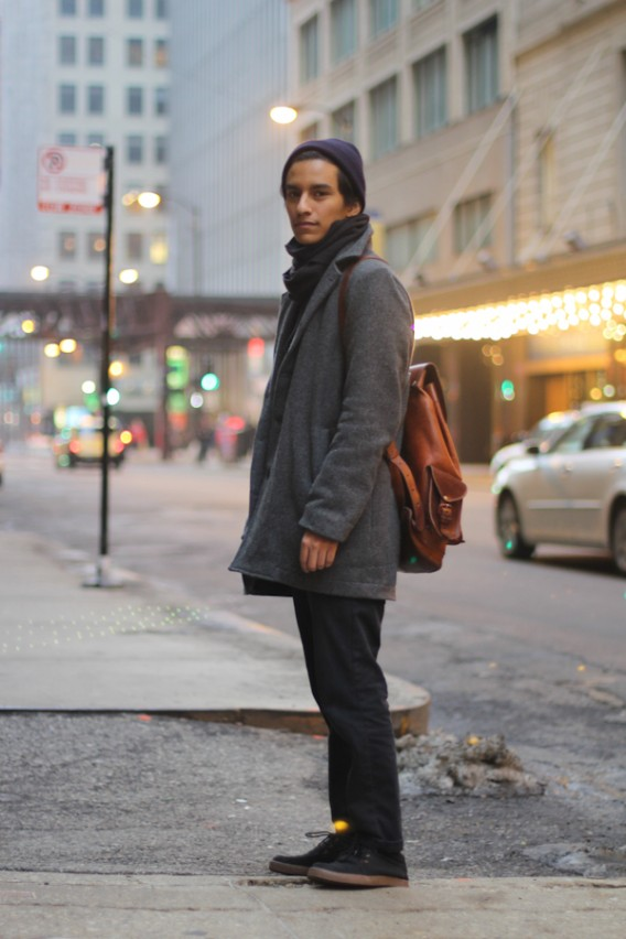 Francisco And His Leather Backpack Amy Creyer 39 S Chicago Street Style Fashion Blog