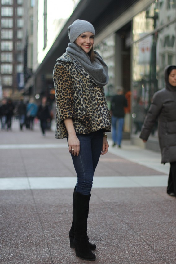 Grace 39 S Leopard Cape Street Style Amy Creyer 39 S Chicago Street Style Fashion Blog: grace fashion style chicago