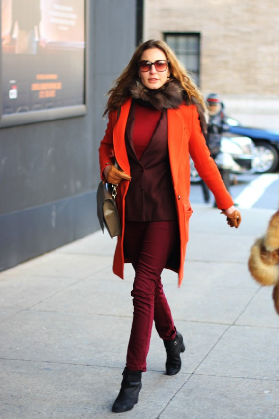 Ece Sukan in Oxblood, 'The' Color for Fall 2012