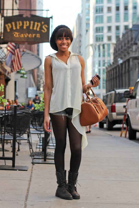 Chicago Street Style: Desirée on Rush Street
