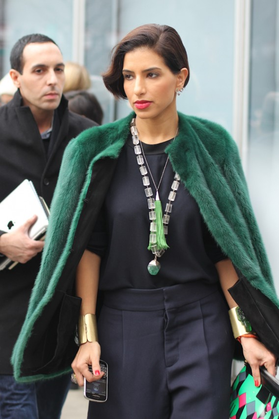 New York Street Style: Go [Fur] Green!