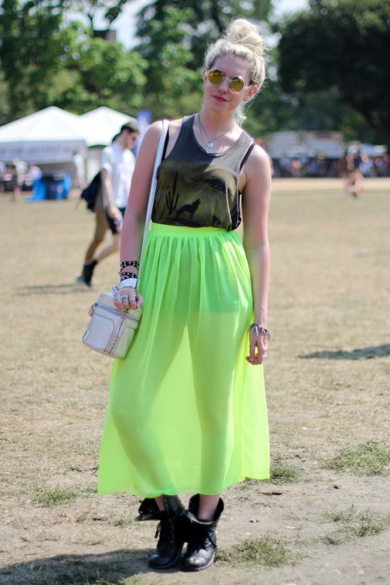 Neon Perfection... The Statement Maxi Skirt