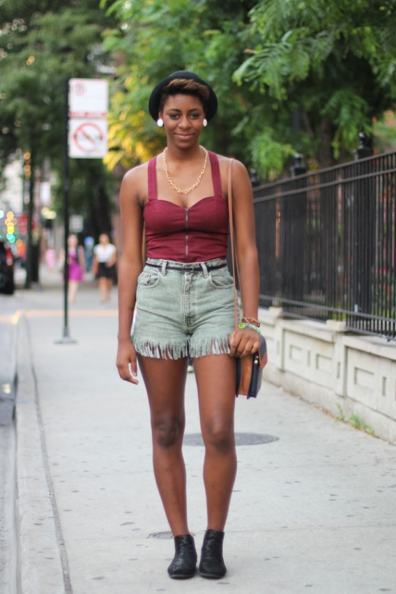 DIY Denim Shorts: Janelle on Chicago Avenue
