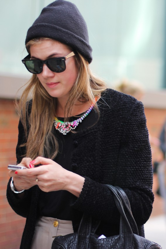 New York... Texting in Topshop