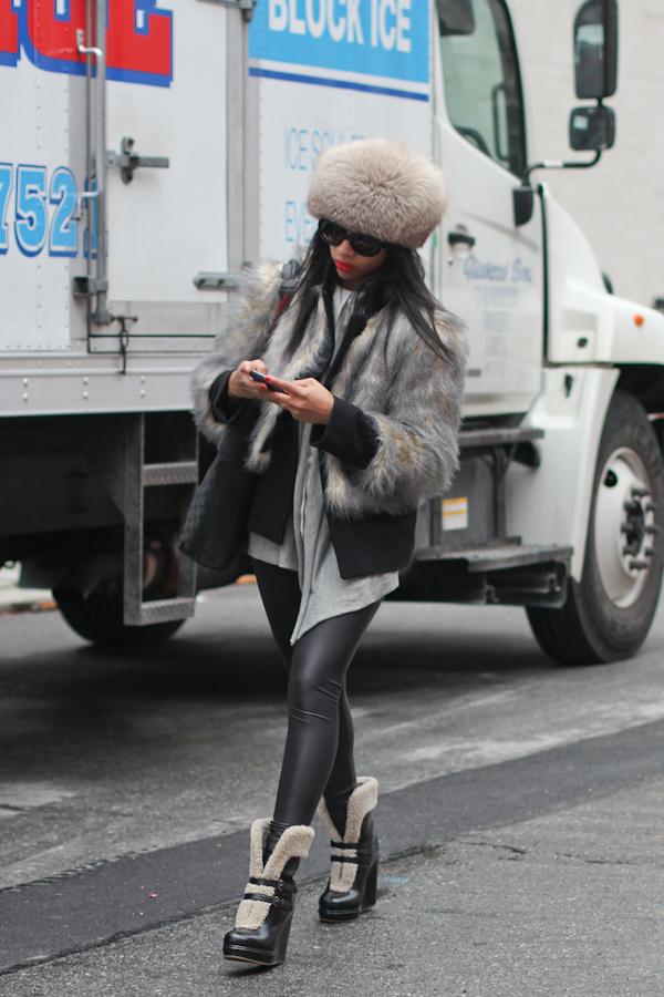 Fur Winter Street Style