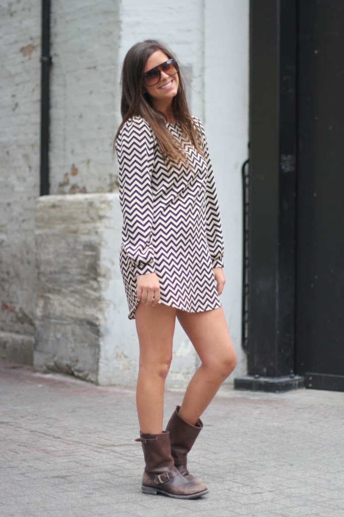 Abbey 39 S Zigzag Dress Amy Creyer 39 S Chicago Street Style Fashion Blog