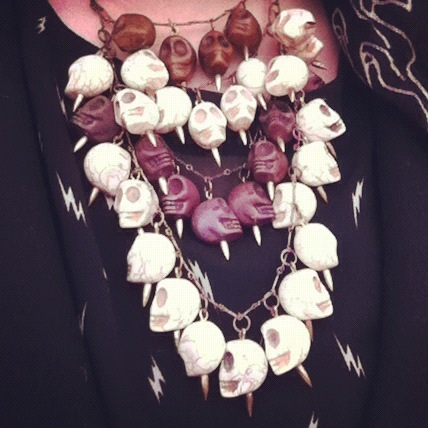 Pamela Love 4 Four Tier Skull Necklace