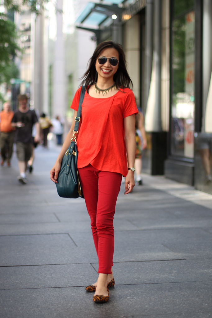 Lady In Red Linda Amy Creyer 39 S Chicago Street Style Fashion Blog