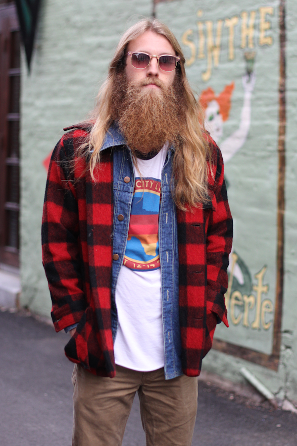 Men s street style flannel denim amy creyer 39 s chicago for How to wear men s flannel shirts