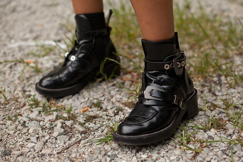 balenciaga motorcycle boots